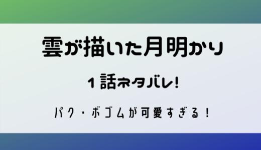 雲が描いた月明かりのネタバレ第1話!パク・ボゴムが可愛すぎる!