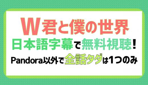 W-君と僕の世界-の動画を日本語字幕で無料視聴!pandora以外で全話タダは1つだけ!