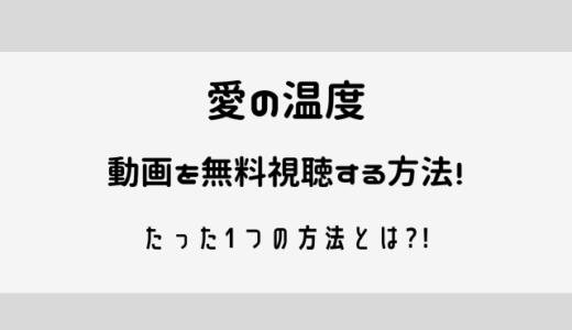 愛の温度の動画の日本語字幕を無料視聴する方法を解説!
