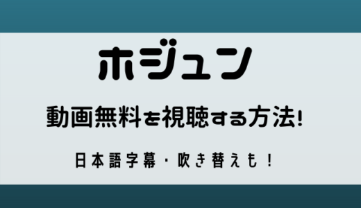 ホジュン動画無料を日本語字幕・吹き替えで視聴する方法は?