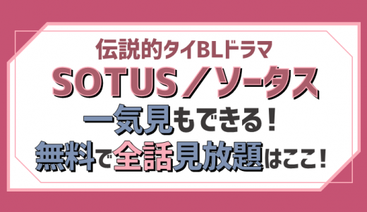 SOTUS/ソータス|伝説的タイBLドラマ動画が無料で見放題イッキ見できるのはここ!