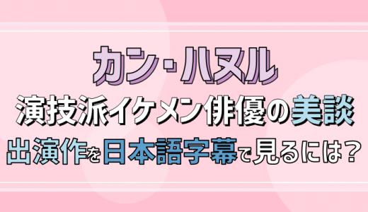イケメン演技派俳優カンハヌルの美談や出演作を日本語字幕付きで無料視聴する方法