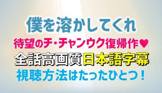 僕を溶かしてくれ【あらすじ見どころ】お得に日本語字幕で全話視聴するたった1つの方法!チ・チャンウク除隊後初の復帰作